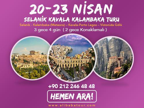 23 Nisan Selanik Kavala Kalambaka (Meteora) Turu